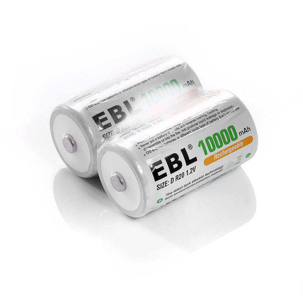 High Capacity D Cell Nimh Rechargeable Batteries Longest