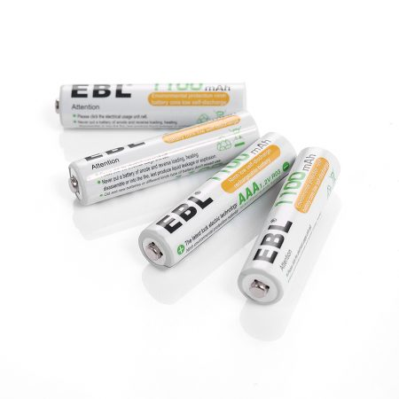 EBL High Power AAA Size Rechargeable Battery 4 Pack For Paintball Guns