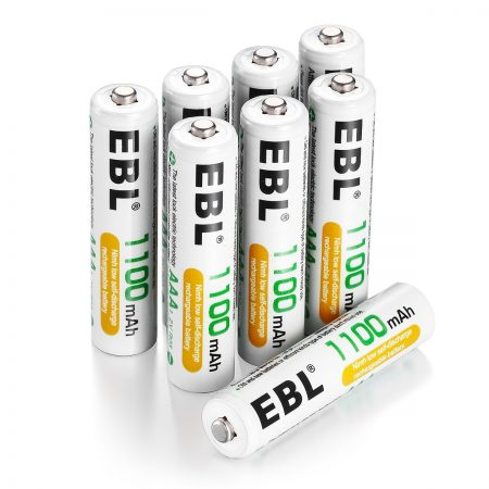 EBL 8 Pack 1.2 V AAA Ni MH Rechargeable Batteries 1200 Cycles For Camera