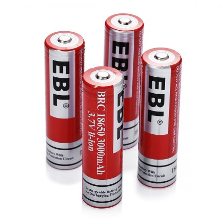 High Capacity 18650 Rechargeable Li-ion Batteries