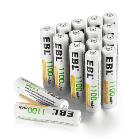 16 Pack Rechargeable AAA Batteries 1100mAh Low Self Discharge For GPS