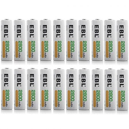 20 Counts NiMH AA Rechargeable Batteries 2800mAh