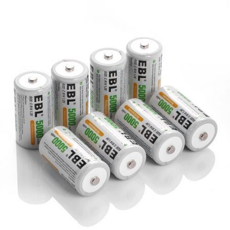 Professional EBL Rechargeable C Batteries 8 Pack