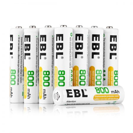 12 Pack AAA NiMH Rechargeable Batteries 800mAh