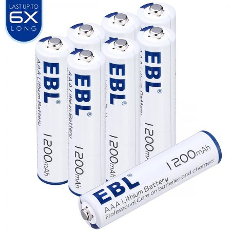 8 Pack Leakproof Long Lasting AAA Batteries Environmentally Friendly