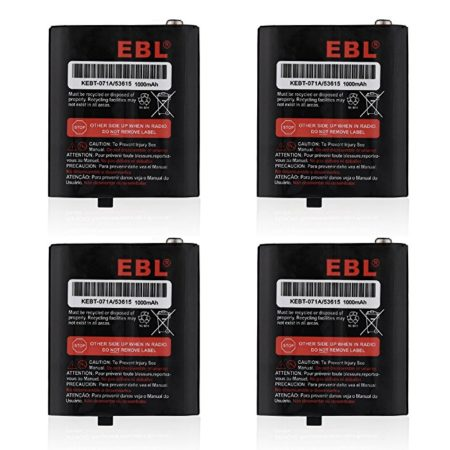 EBL 4-pack Motorola 53615 KEBT-071A KEBT-071-B KEBT-071-C KEBT-071-D Two-Way Radio Rechargeable Batteries