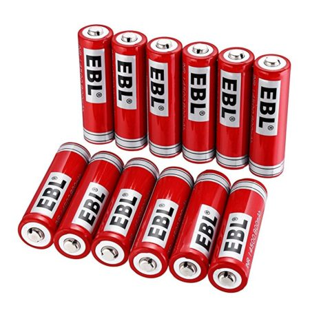 12 Pack 14500 Rechargeable Lithium-ion Battery