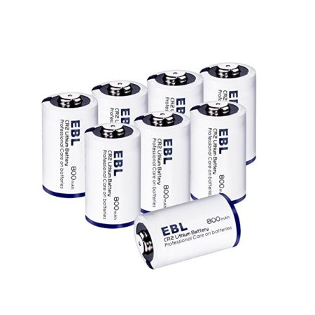 EBL CR2 3V Lithium Batteries with Battery Storage Case - 8-Count