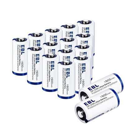 EBL 16-Pack 3V Lithium CR123A Batteries