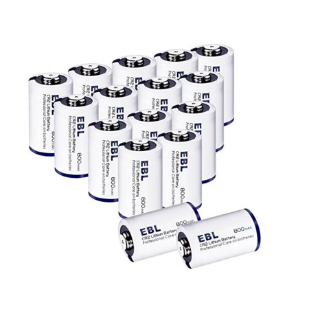 EBL 16-Pack CR2 3V Lithium Batteries with Battery Storage Case