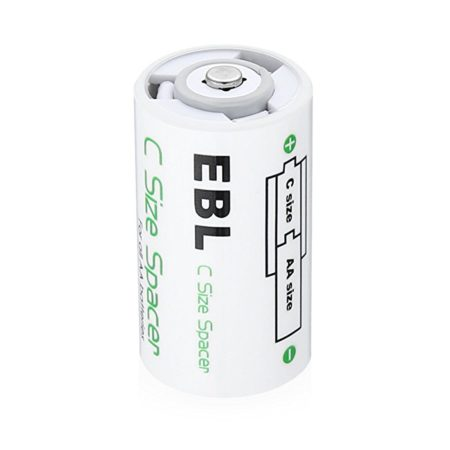 Eco-friendly AA to C Battery Converter Adaptor