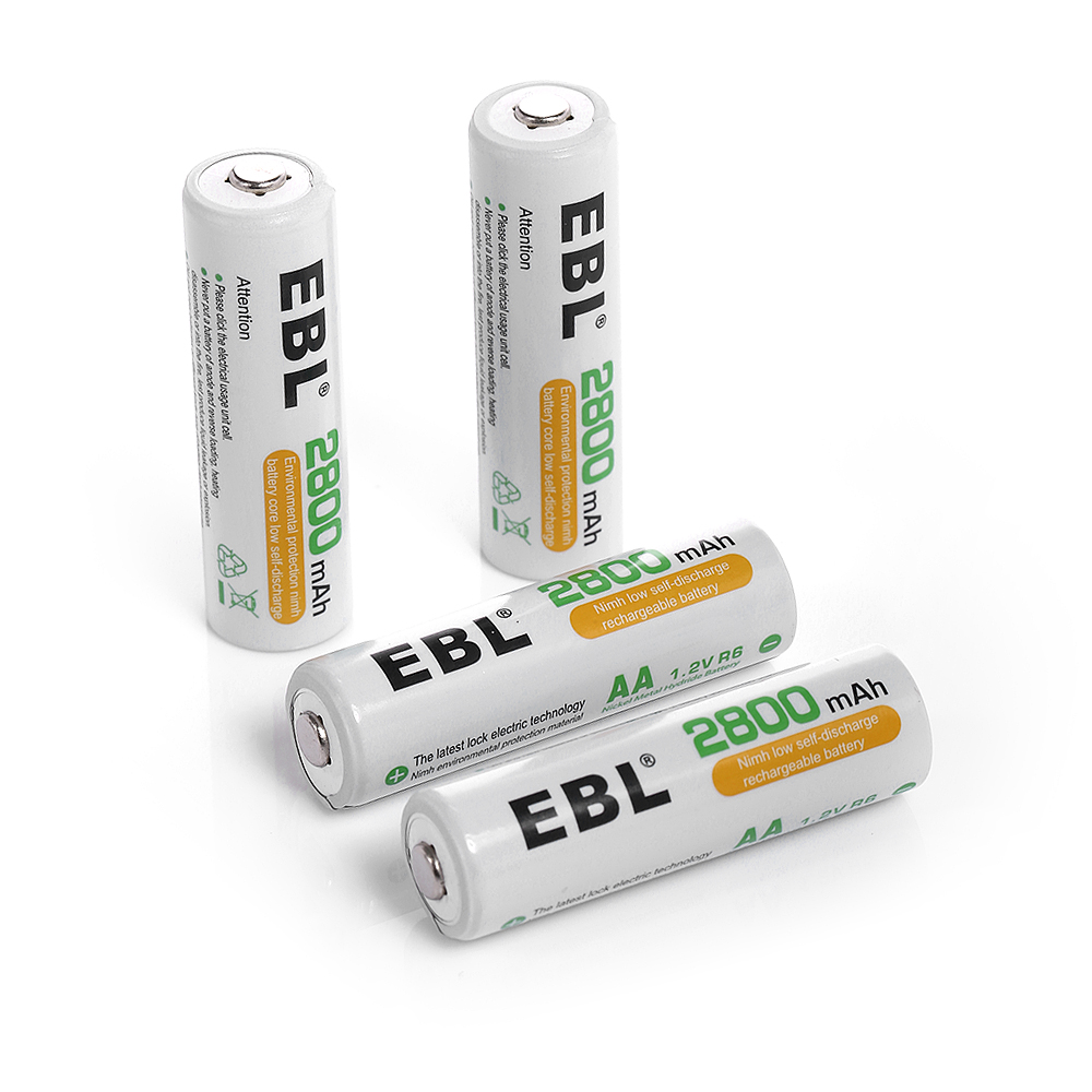 ebl 4 pack 2800mah aa rechargeable batteries high. Black Bedroom Furniture Sets. Home Design Ideas