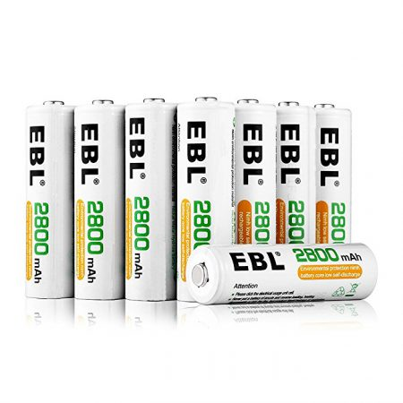 EBL High Capacity AA Rechargeable Batteries