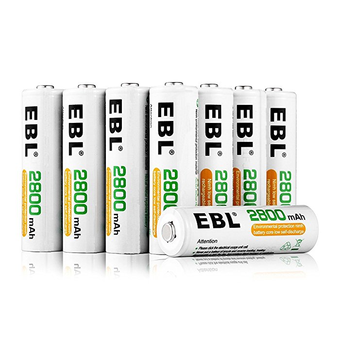EBL High Capacity AA Rechargeable Batteries Low Self Discharge 16 Pack