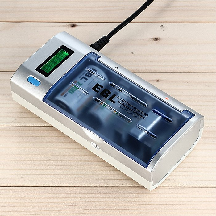 906 Smart LCD Display Battery Charger Combo For AA AAA C D 9V Batteries