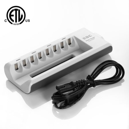 Individual 8 Bay AA AAA Smart Battery Charger