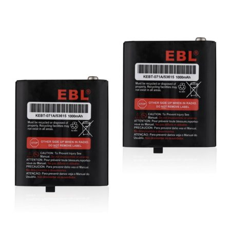 EBL 3.6V 1000mAh Two-Way Radio Rechargeable Battery For Motorola 53615 m53615 KEBT-071-A Talkabout 5950 Series
