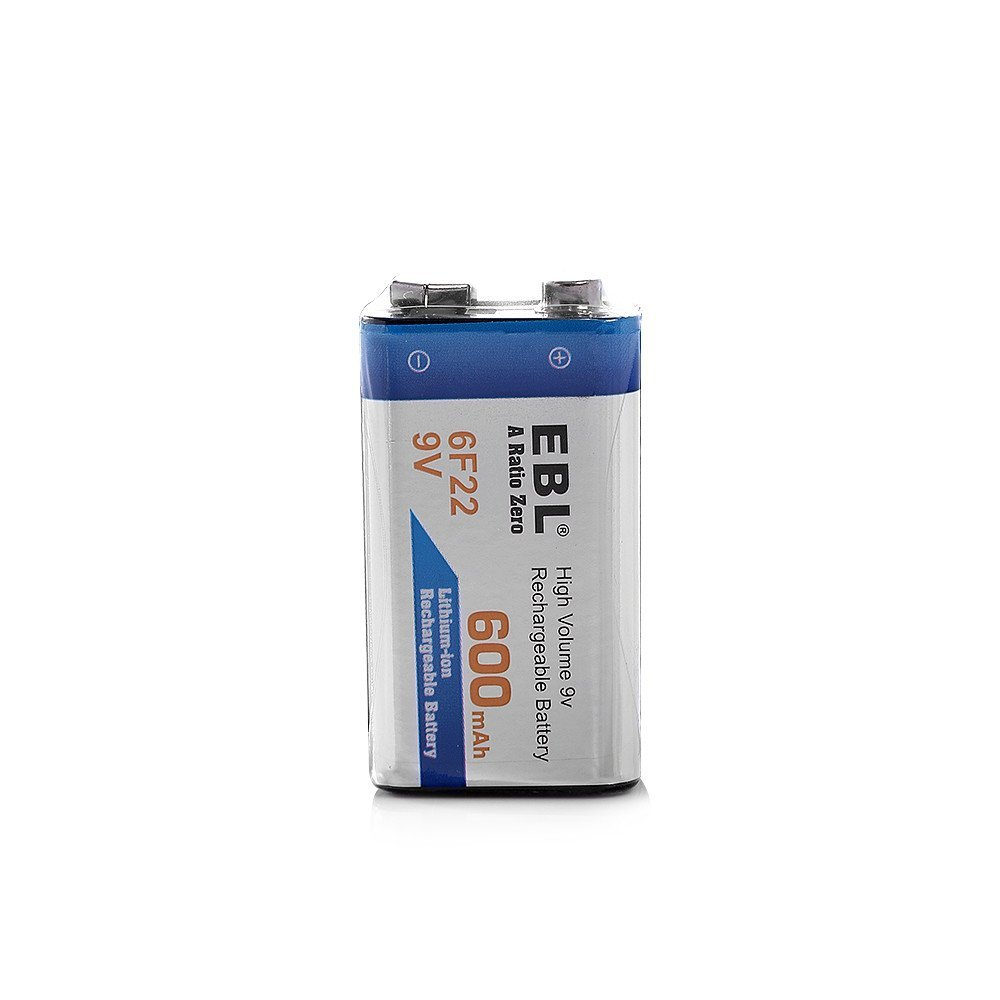 4 Pack 6f22 9v Rechargeable Battery High Capacity 1200