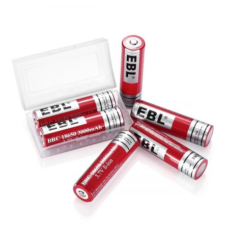 6 Pack Rechargeable 3.7 Volt Li ion 18650 Battery For Flashlight / Ecig