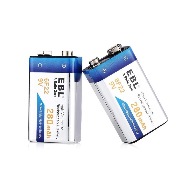 Low Self-Discharge Rechargeable 9V Batteries