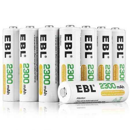 16-Count EBL AA Rechargeable Batteries NiMH 2300mAh