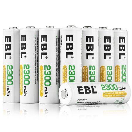 16-Count EBL AA Rechargeable Batteries NiMH 2300mAh