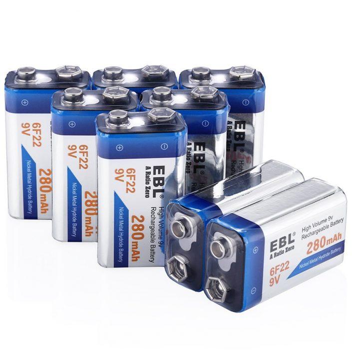 EBL 9 volt NiMH Rechargeable Battery 8 Pack 280mAh