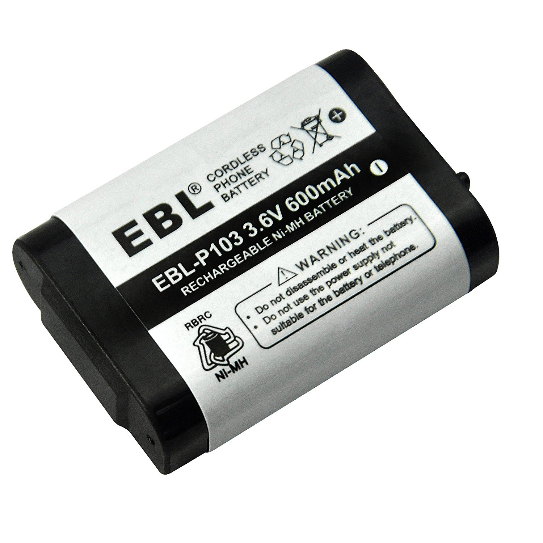 2 Pack Ebl Cordless Phone Battery For For Panasonic Hhr