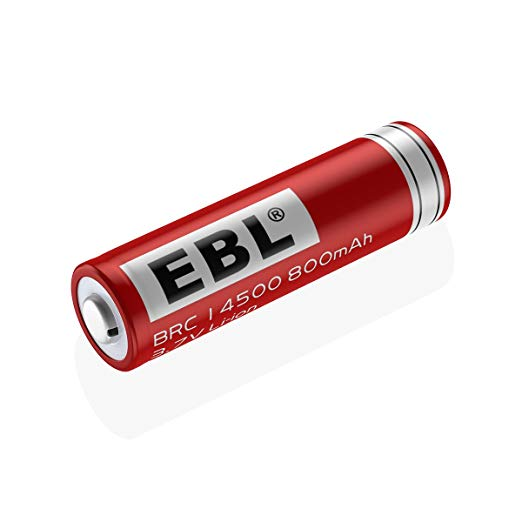 ebl protected 14500 li ion rechargeable battery 3 7 volt. Black Bedroom Furniture Sets. Home Design Ideas