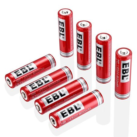 8 Packs High Capacity 3.7 Volt 14500 Battery