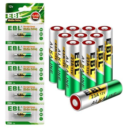 EBL 10-Pack 12V Alkaline Batteries for Doorbells Remote Control, 23A GP23AE MN21 23GA