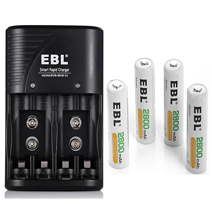 EBL Battery Charger For AA AAA 9V Ni MH CD Rechargeable