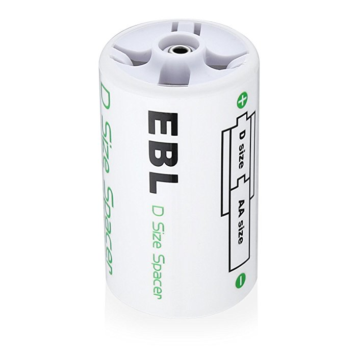 Efficient D Cell Spacer convert AA Size Battery into D Battery