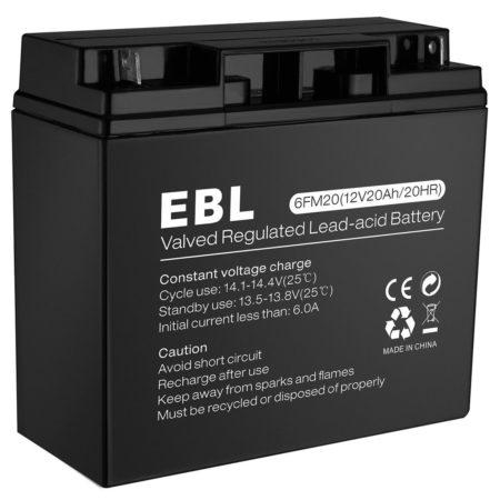 Rechargeable Valve Regulated Lead Acid Battery 12V 20Ah