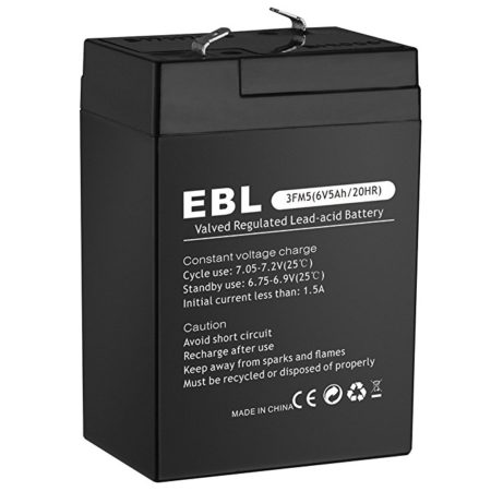 Rechargeable 3MF5 6V 5Ah Sealed Lead Acid Battery