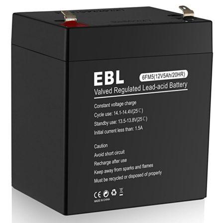 EBL 12V 5AH Rechargeable Sealed Lead Acid Battery