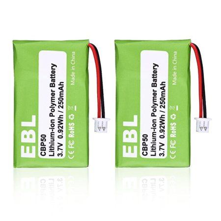 EBL 2 Pack 65358-01 CBP50 Replacement Battery Wireless Headset for Plantronics CS-50, CS50-USB, CS-55, CS-60, 64327-01, 64399-01, HL10, PL-64399-01