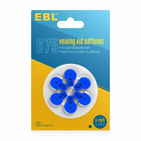 Size 675 Hearing Machine Battery / Ear Aid Battery