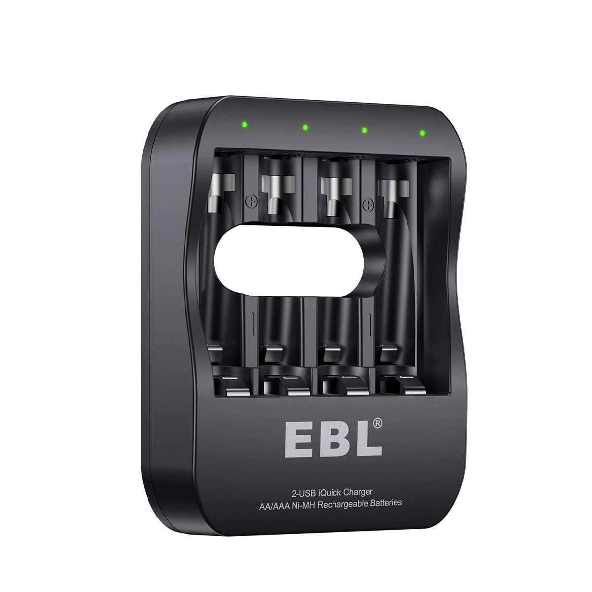 EBL iQuick USB 4 Slots Battery Charger For AA AAA Ni-MH Rechargeable Batteries